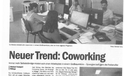 BeWorking en la prensa nacional alemana 'Costa del Sol Nachrichten'